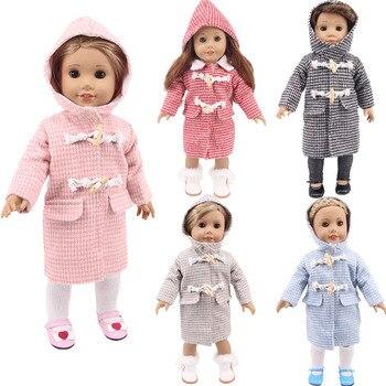 Ropa para muñecas de 5 colores sólidos, Abrigo con capucha de estilo...