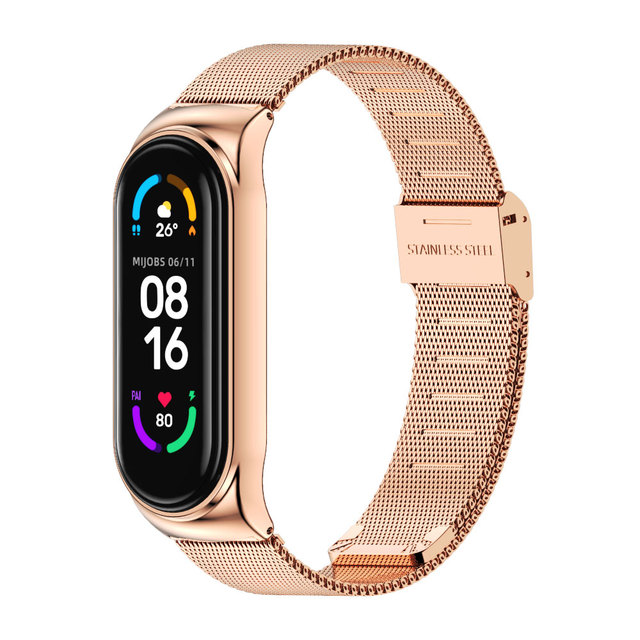 For Xiaomi Mi Band 5 Strap Miband 6 5 4 3 Metal Leather Bracelet Straps for Smart Watch Pulseira Correa for Xiomi NFC Wristbands 6