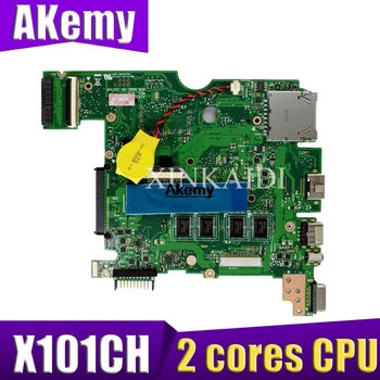 Akemy for ASUS X101C X101CH X101CH Laptop Motherboard  2 cores CPU REV2.3/2.0 100% Tested  Mianboard