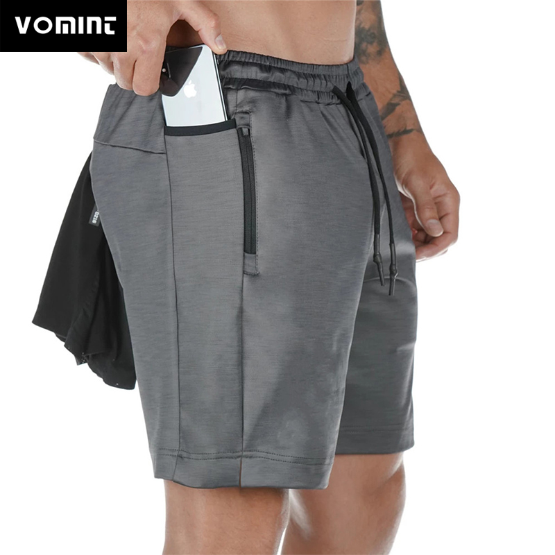 VOMINT Running  Mens Gym Fitness Sports Bermuda Jogging Training Short Pants Summer Male Multi-pocket Beach Sweatpants