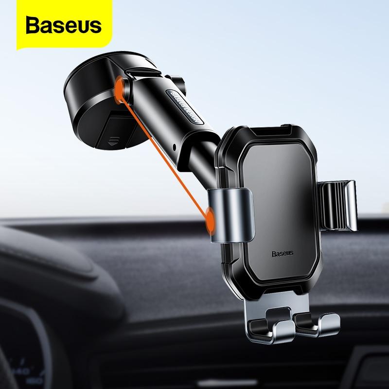 Baseus gravité voiture support de téléphone ventouse réglable support universel support en voiture GPS support pour iPhone 12 11 Pro Max Xiaomi 9