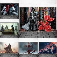 strong Import List strong Obraz na płótnie drukuj plakaty filmowe wojenne Darth Vader szturmowiec Retro ściana z Graffiti Art Cuadros dekoracja salonu tanie tanio Disney CN (pochodzenie) Wydruki na płótnie Pojedyncze PŁÓTNO akwarelowy abstrakcyjne bez ramki Malowanie natryskowe