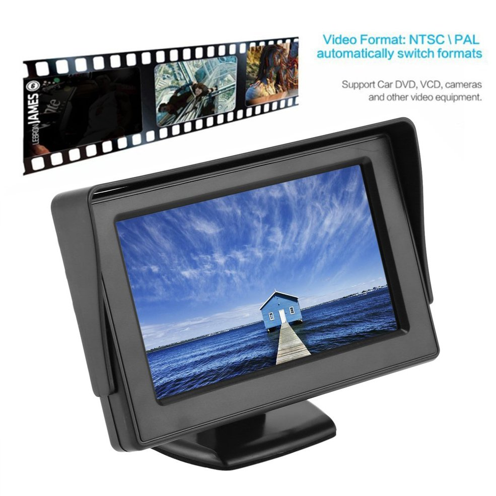 Lcd-Monitor Display Rearview Video-Inputs Gps/camera 2-Channels TFT Car for Visual-Reversing title=