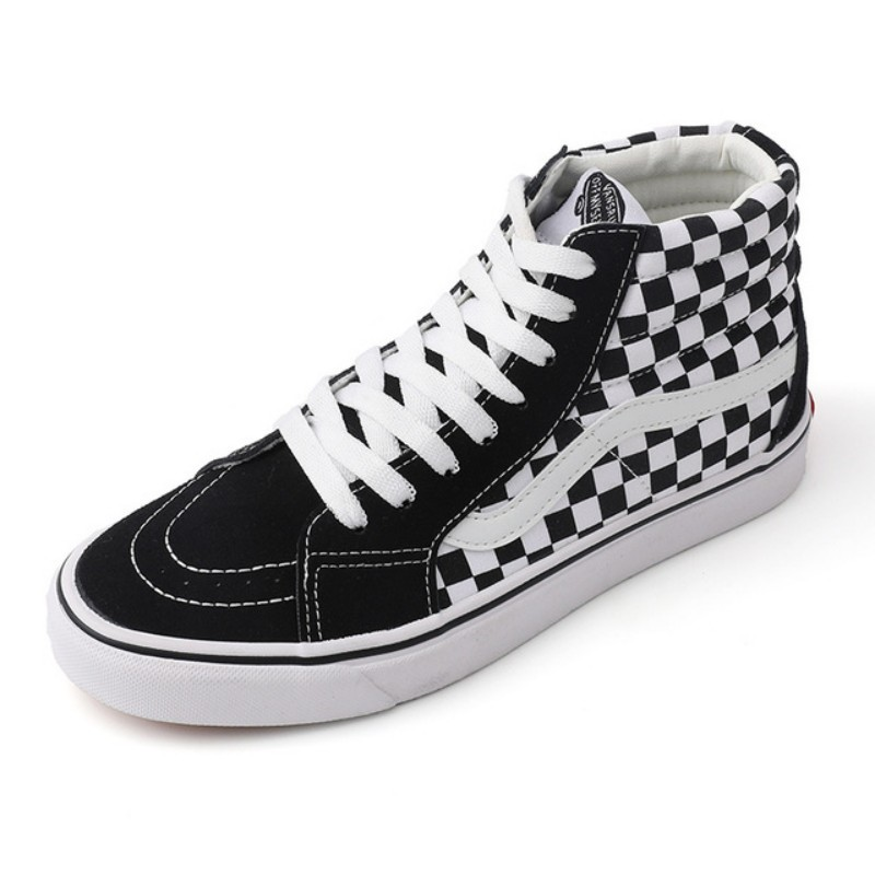 2020 High top checkerboard black white Men Shoes Women Unisex Mid Top Classic Sneakers Skateboarding Shoes