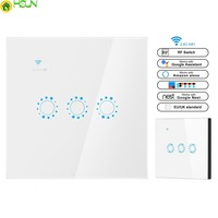 Smart light Switch Double Control 1 2 3 Gang WiFi +RF Wall touch Switch eWeLink APP Compatible with Alexa Google Assistant IFTTT