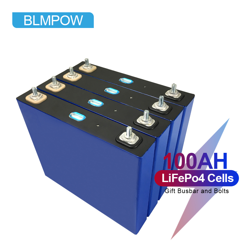 BLMPOW 4PCS 3.2V 100AH Lifepo4 Battery Cell Lithium Ion Battery Pack 12v Batteries for Inverter, Boat Motor No Tax