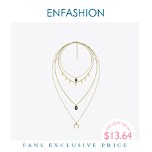 Enfashion Multi Schicht Kette Halskette Für Frauen Urlaub Vintage Gold Farbe Lange Böhmischen Choker Halsketten Schmuck Geschenke P193008