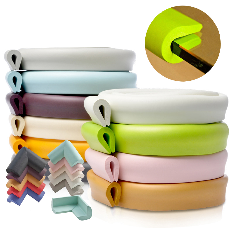 2M Baby Safety U Shaped Table Desk Edge Guard Strip Home Cushion Guard Strip Kid Safe Protection Children Soft Thicken Free Tape