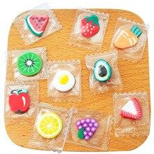 Creative simulation fruit dumplings egg keyring cute strawberry bag pendant cartoon keychain schoolbag hanging ornaments 1pcs