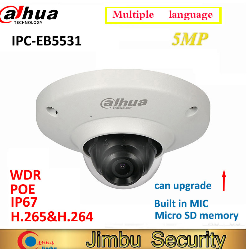 Dahua 5MP IP камера IPC EB5531 панорамная сеть рыбий глаз IP камера H.265 1,4 мм объектив Встроенный микрофон Micro SD карта IP67 PoE WDRip camerafisheye ip cameracctv camera  АлиЭкспресс