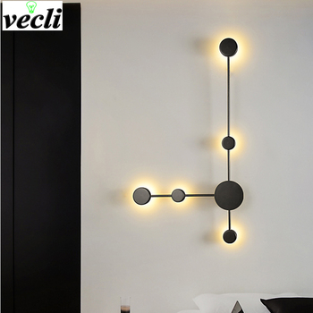 Modern LED wall lamp simple living room background wall lamp bedroom bedside Wall Sconce creative hotel hall corridor lighting nordic simple living room wall lamp bedroom bedside lighting creative aisle background crystal glass wall sconce light fixture