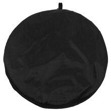 Fond de mousseline pliable de Studio réversible de toile de fond noir/blanc chaud 3C 2x1.5m