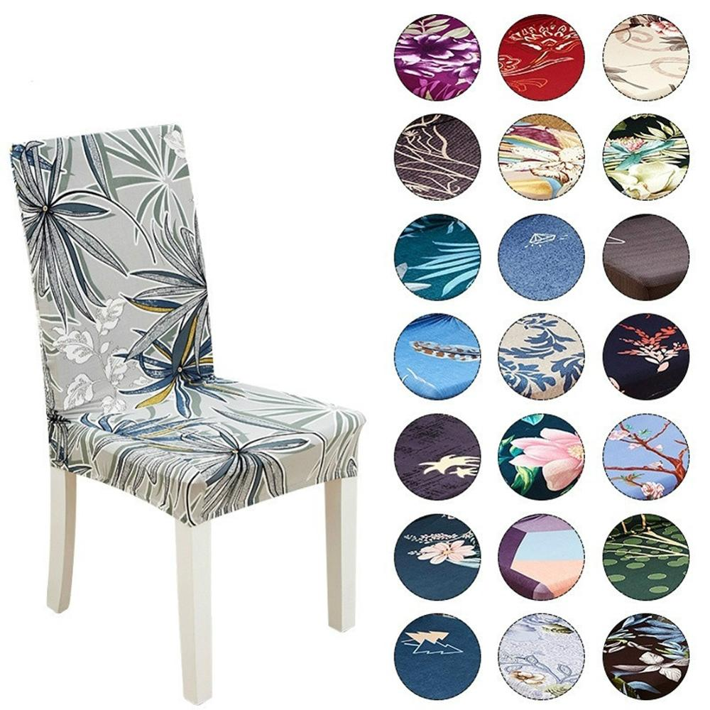Chair Cover Spandex Elastic Chair Covers Slipcover Removable Anti dirty Seat Cover for Banquet Wedding Dinner