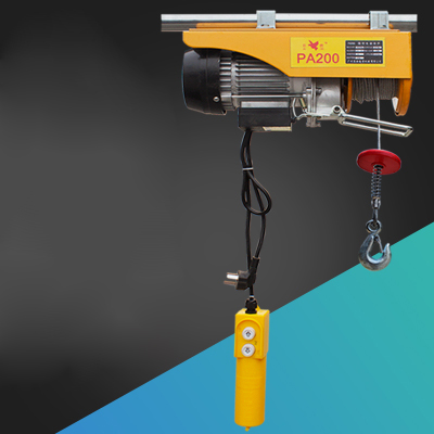 PA200-500 Miniature Electric Hoist Crane Portable 120-500kg 12 -20 Meters Small Household Crane Refurbishment Crane 220V