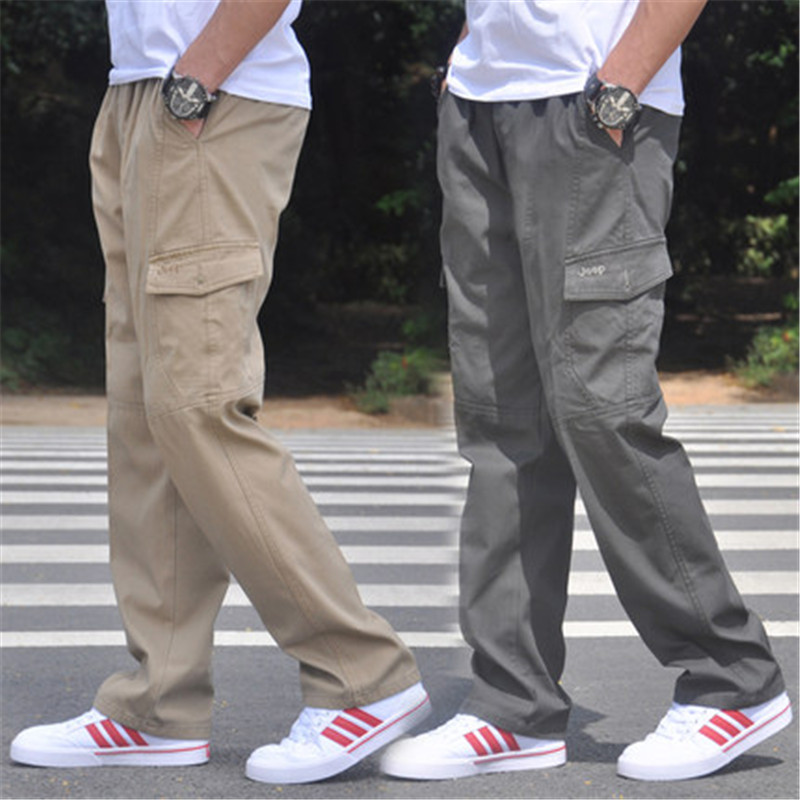 NEW Mens Cargo Baggy outdoor Trousers Loose Casual Overalls Work Straight Pants
