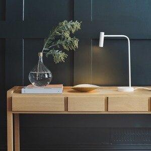 Image 5 - Zerouno משרד שולחן אור ספר קריאת מנורת led שולחן שינה מחקר 2700K stand מנורת שולחן חדר המיטה