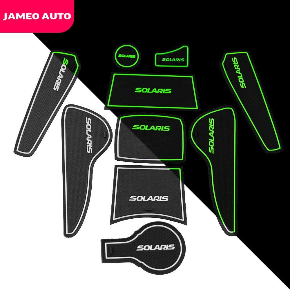 Jameo Auto Gate Slot Pad for Hyundai Solaris 2011 - 2016 Door Groove Mat Automotive Interior Non-slip Mats and Dust Mat