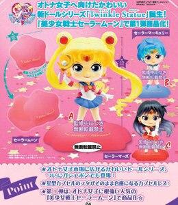Image 5 - PrettyAngel אמיתי Bandai סיילור מון Gashapon כמוסה נצנץ פסל ירח מרקורי יופיטר ונוס מלא צעצועי דמויות