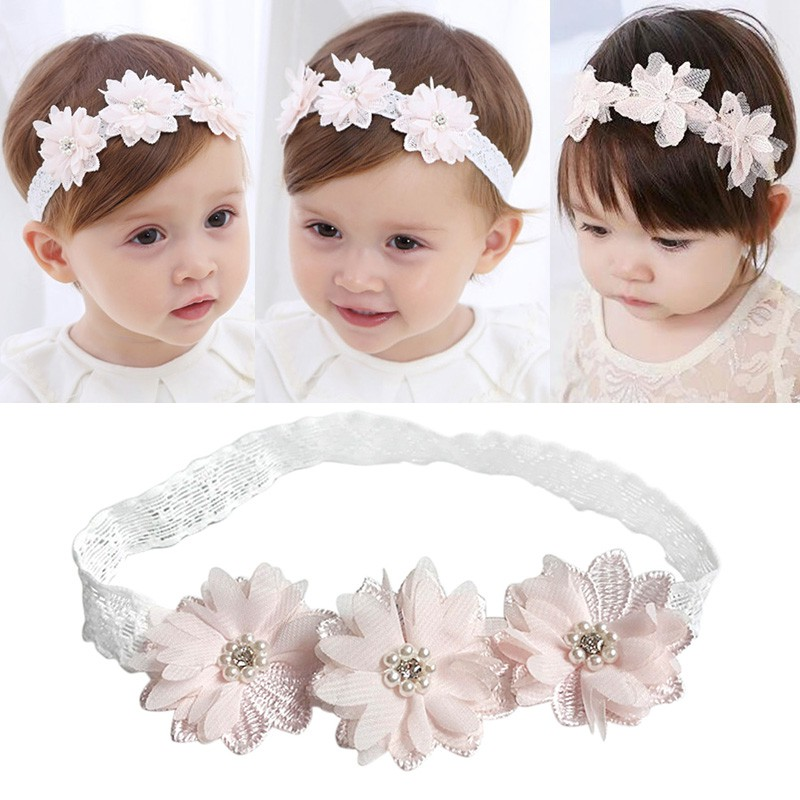 48 Styles Baby Headband Flower Girls Pink Ribbon Hair Bands For Baby Girls Kids Headbands Lace Newborn Hairband