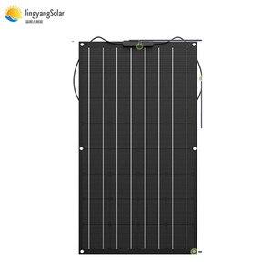 Image 1 - Çin esnek GÜNEŞ PANELI 100W/200W 300W /400W monokristal güneş pili esnek panel güneş için 12V 24 volt güneş enerjisi sistemi kiti