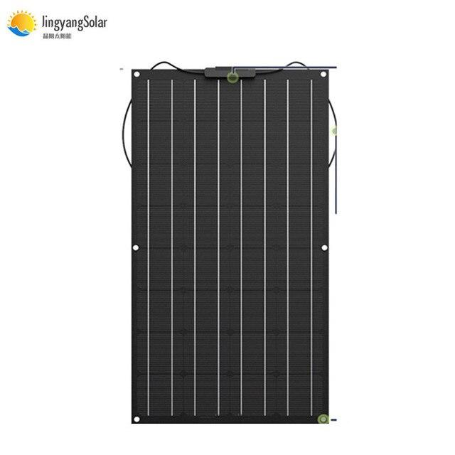 Çin esnek GÜNEŞ PANELI 100W/200W 300W /400W monokristal güneş pili esnek panel güneş için 12V 24 volt güneş enerjisi sistemi kiti