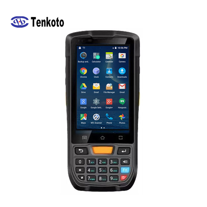 Barcode PDA Android 9.0 Scanner 4 Inch Touch Screen Rugged Carrier Inventory Honeywell 1D Laser Bar code 2D Barcode Scanner
