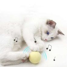 Jouets interactifs pour chats, boule sonore intelligente, fournitures d'entraînement pour animaux de compagnie, Simulation de couineur, jouet pour chats