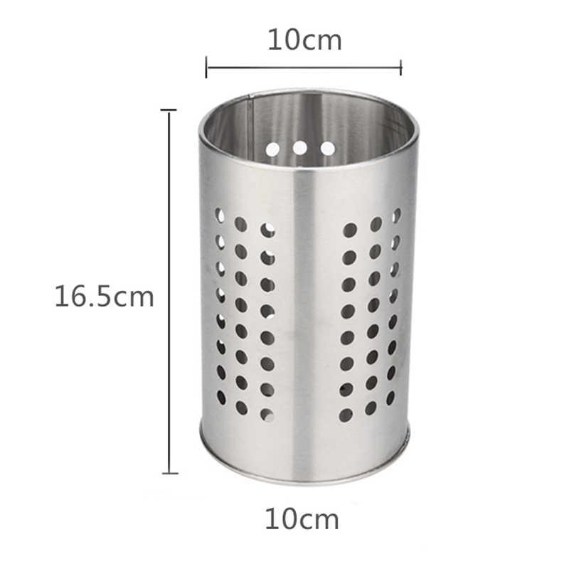 1 Stainless Steel Chopsticks Holder Cutlery Drainer Storage Spoon Dryer Organizer Rack For Kitchen Tools