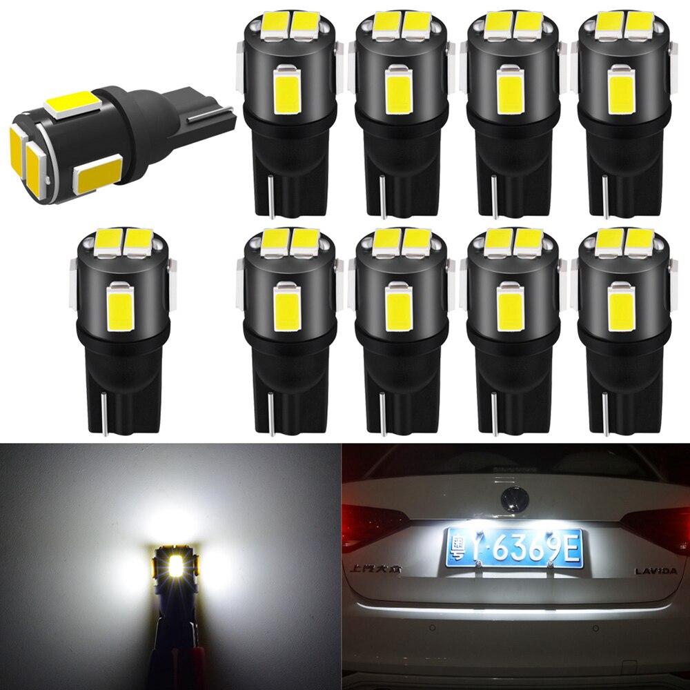 Светодиодные лампы для салона автомобиля 10x T10 W5W, 168 парковочных ламп для Toyota Avensis Corolla Cruiser Camry CHR Auris Hilux Prius Celica