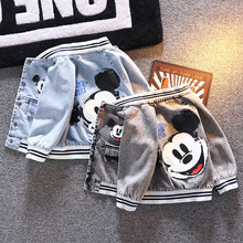 2020 Mickey cowboy Baby boy jacket coat spring autumn childr