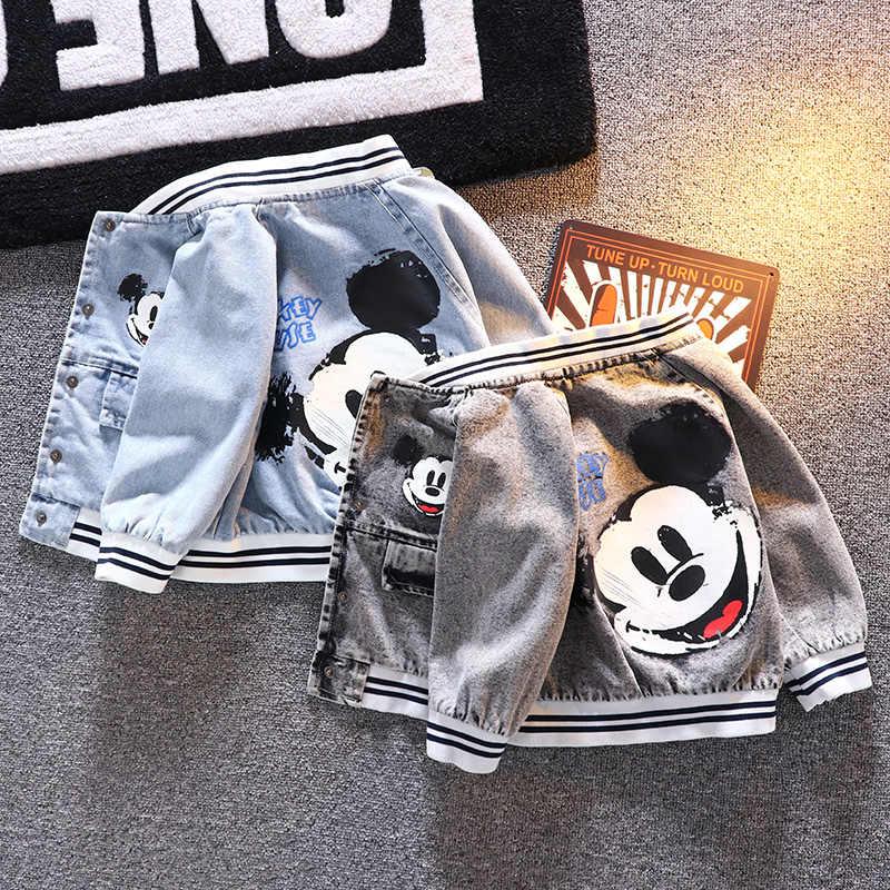 2020 Mickey kovboy erkek bebek ceket ceket bahar sonbahar çocuk clothing1-4yera yüksek kaliteli bebek ceketleri yürümeye başlayan çocuk giysileri