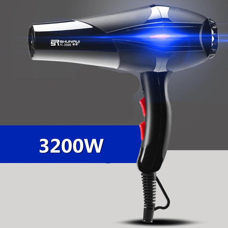 전기 헤어 드라이어 블루 음이온 건조 기계 100% 브랜드 새롭고 높은 품질 헤어 부상 블로우 건조기 헤어 블로어 35