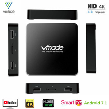 цена на Android 7.1 Amlogic S905W Quad Core Smart TV Box 2G 16GB HD 4K H.265/HEVC WIFI 5G Wireless Router Google IP-TV Media Player