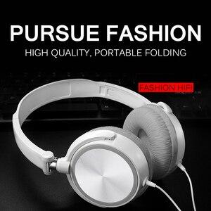 Image 2 - Auriculares Bluetooth con cable, auriculares con interfaz redonda de 3,5mm, auriculares HiFi con sonido de música estéreo