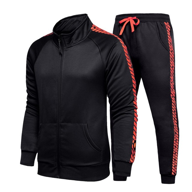 New Men Tracksuit Sport Suit Male Long Sleeve Set Men's Gyms Set Zipper Jacket+Pants 2PC Sets Sportswear Autumn Man Clothes Sets
