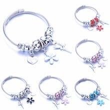 Модные браслеты из нержавеющей стали с кристаллами в форме сердца