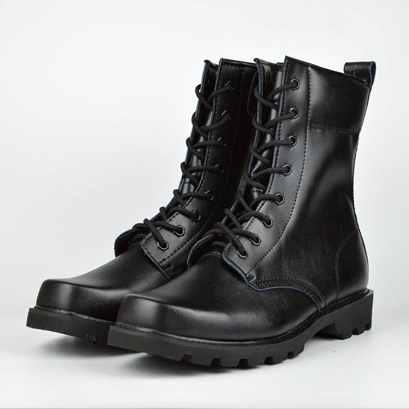 Combat Boots Spring And Autumn Winter Style-Proof Boots Men's Combat Boots Training Special Forces Big Dumb Combat Boots