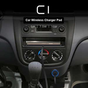 Image 5 - C1 QI Drahtlose Auto Ladegerät Pad für iPhone 11 Pro Max Schnelle Schnelle Drahtlose Ladegerät Auto 10W 7,5 W lagerung Schublade
