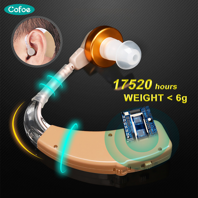$ US $10.47 Cofoe Invisible Digital Hearing Aid Rechargeable Hearing Aids Mini Ear aid Power Sound Amplifier For the elderly Hearing device