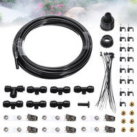 Mayitr Outdoor Garden Patio Misting Cooling System Mist Sprinkler Nozzle Irrigation Watering Kits