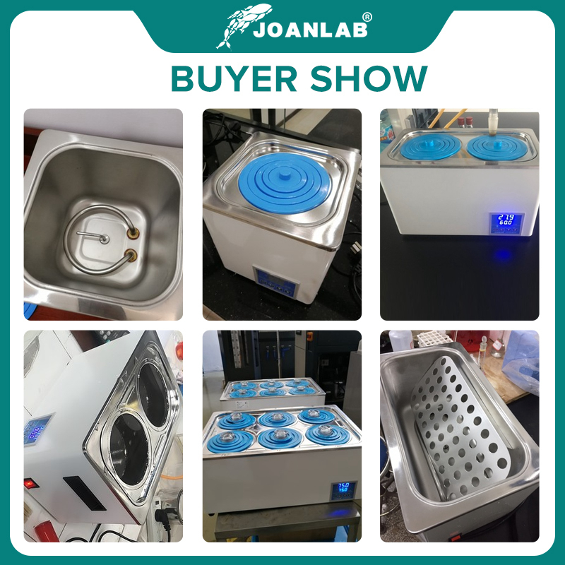 JOANLAB Laboratory Water Bath Constant Temperature LCD Digital Display Lab Equipment Thermostat Tank 6 4 2 1 Single Hole 220v 6