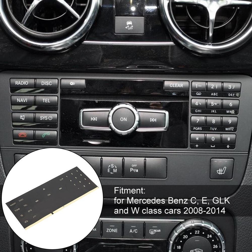 Mercedes C Class Radio CD Button Stickers Decals for Repair Worn Knob Switch