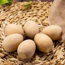 20 pçs páscoa diy ovo de madeira adornos desenho ovo adereços para crianças graffiti ovo