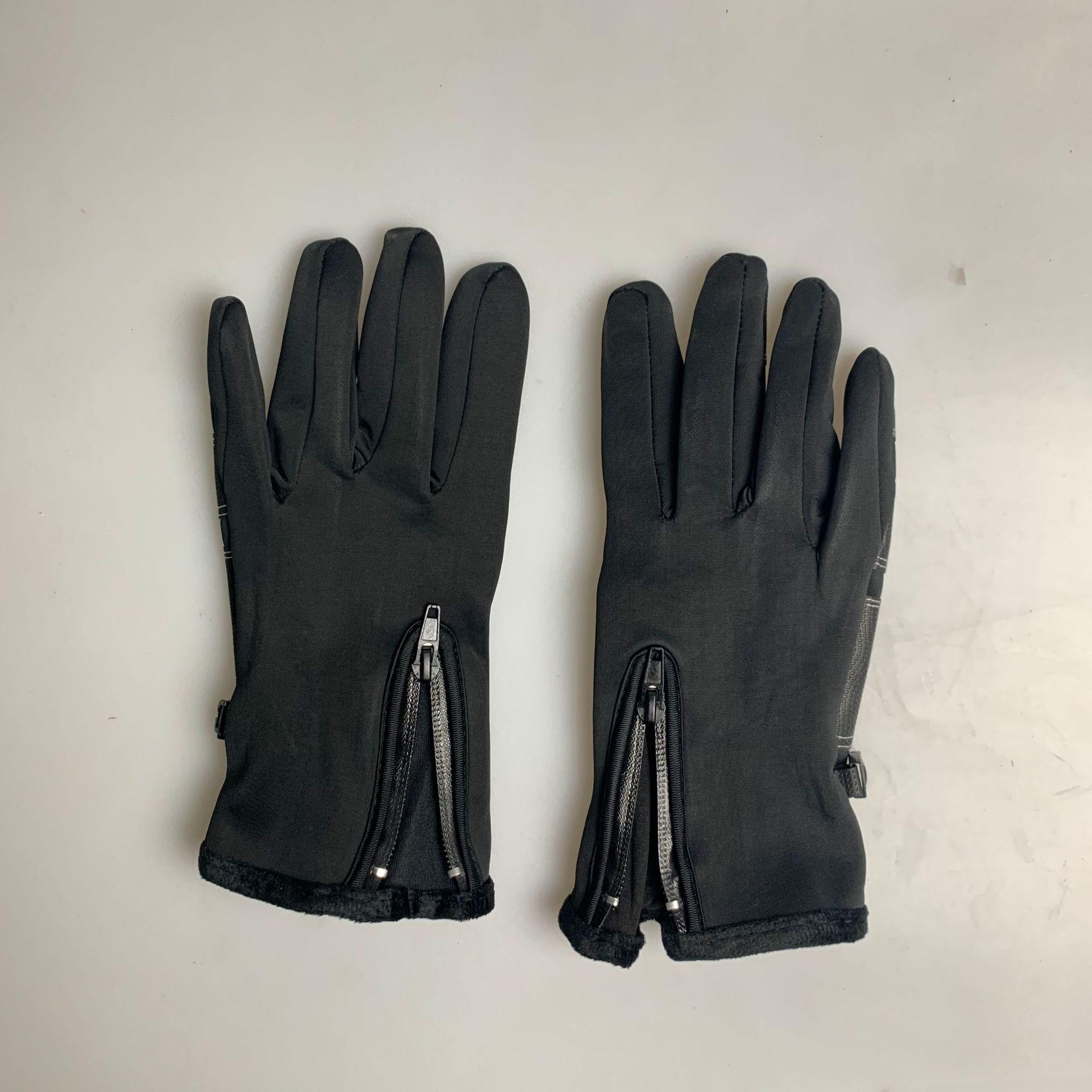 Outdoor Waterproof Gloves Winter Touch Screen Men And Women Windproof Warm Full Finger Zipper Sports Plus Velvet Mountain Climbi