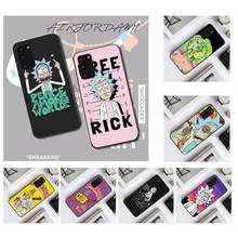 PENGHUWAN Rick And Morty Funny Cartoon Comic Memes Silicone Phone Case for Samsung S20 plus Ultra S6 S7 edge S8 S9 plus S10 5G(China)