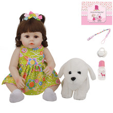 48 CM piękny Bebe Reborn Babies lalki realistyczne pełna silikonowa obudowa 18 Cal dobranoc Playmate zabawki nowe mody dzień dziecka prezenty
