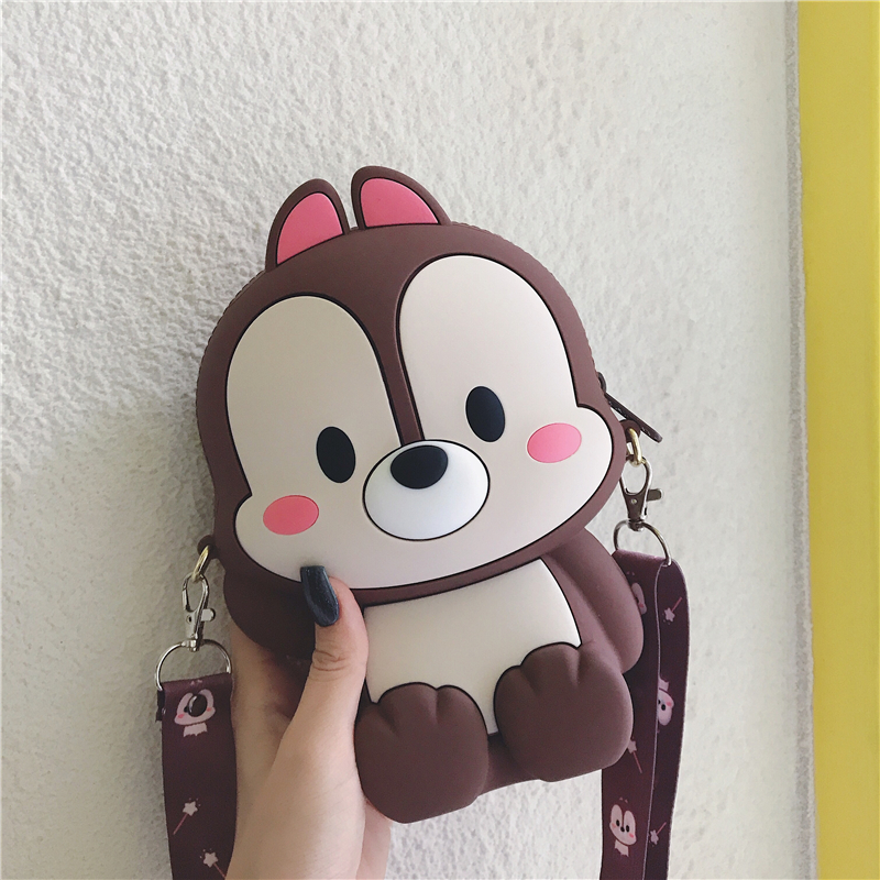 Fashion Animal Style Girl Handbag Cartoon Mobile Phone Shoulder Bag Shoulder Chain Prom Bag Messengner Bags Wallet Purse