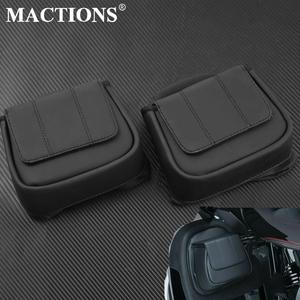 Lower Vented Leg Fairing Glove Box Tool Bag Fits For Harley Touring FLHTK Road Street Glide Road King 2014 2015 2016 2017 2018(China)