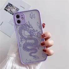 Phone-Case Matte-Bag Transparent-Cover Dragon 8-6plus Remazy for 12 11/Pro-xs/Max-x-7/..