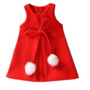 От 1 до 5 лет Платья для девочек; модные шерстяные платья для маленьких девочек; праздничное платье без рукавов для девочек; осенняя одежда дл...